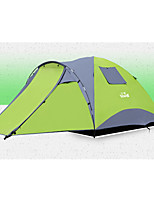 3-4 persons Screen Tent Tent Double Camping Tent One Room Automatic Tent Waterproof Zipper Wearable for Beach Camping / Hiking / Caving