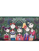 Women Bags All Seasons PU Clutch Zipper for Dark Green