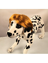 cheap -Dog Toy Tiaras & Crowns Wig Dog Clothes Stylish Yarn Dyed Brown Gold