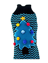 cheap -Dog Sweater Dog Clothes Christmas Christmas Blue Costume For Pets