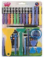 25 em 1 dispositivo de reparação de telefones móveis ferramenta chave de fenda conjunto spudger ferramenta de abertura de prick para