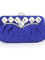 preiswerte -Damen Taschen Seide Abendtasche Knöpfe für Normal Alle Jahreszeiten Blau Weiß Schwarz Rote
