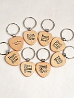 cheap -Classic Theme Keychain Favors Wooden Practical Favors Keychain-Piece/Set