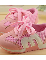 cheap -Girls' Shoes Breathable Mesh Spring Fall Comfort Sneakers For Casual Pink Blue Red Black