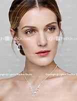 Women's Lariat Y Necklaces Rhinestone Basic Jewelry For Wedding Party