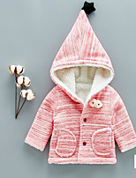 Girls' Solid Down & Cotton Padded Long Sleeves Blushing Pink Gray
