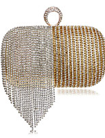cheap -Women Bags Polyester Evening Bag Buttons Crystal Detailing for Casual All Season Blue Gold Black Red Rainbow