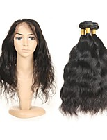 cheap -Remy Peruvian Natural Color Hair Weaves Natural Wave Hair Extensions 3pcs Black