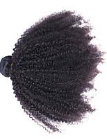 cheap -1 piece Natural Black Unprocessed Mongolian Human Hair Weaves Hair Extensions