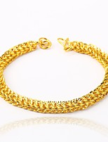 Men's Women's Chain Bracelet Metallic Gift Gold Plated Irregular Jewelry For Wedding Engagement