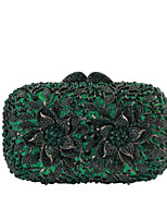 Women Bags All Season PU Evening Bag Zipper for Casual Dark Green