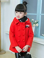 Girls' Solid Jacket & Coat,Cotton Rayon Polyester Fall Winter