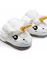 Unisex Shoes Cotton Winter Fur Lining Comfort Slippers & Flip-Flops For Casual White