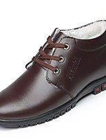 Men's Shoes PU Winter Comfort Oxfords For Casual Brown Black