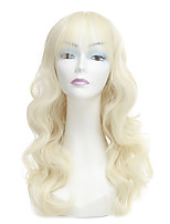Women Synthetic Wig Capless Long Wavy Blonde Natural Wigs Costume Wig
