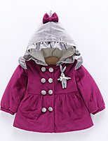 Girls' Solid Down & Cotton Padded,Cotton Long Sleeves Red Blushing Pink Purple