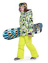 Boys' Ski Jacket Warm Waterproof Windproof Rain-Proof Wearable Antistatic Breathability Mountaineering Snow sports Snowshoeing Winter