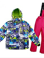 cheap -Boys' Girls' Ski Jacket with Pants Warm Ventilation Windproof Wearable water-resistant Ski / Snowboard Multisport Snowshoeing Winter