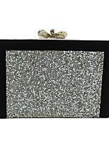жен. Мешки Все сезоны Полиуретан Вечерняя сумочка Кристаллы для Свадьба Для праздника / вечеринки Золотой Черный Серебряный Серый