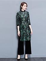Damen Solide Einfach Lässig/Alltäglich Set Rock Anzüge,Rundhalsausschnitt Winter Langarm Polyester
