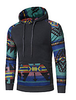 cheap -Men's Daily Hoodie Print Hooded Micro-elastic Cotton Long Sleeves Winter Autumn/Fall