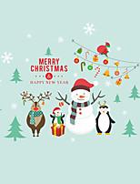 Недорогие -Животные Рождество Наклейки Простые наклейки Декоративные наклейки на стены,Винил Украшение дома Наклейка на стену For Стена Окно