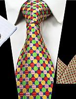 Da uomo Per tutte le stagioni Poliestere A strisce Cravatta,A righe