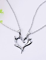 Men's Women's Pendant Necklaces Heart Alloy Love Fashion Jewelry For Engagement Gift