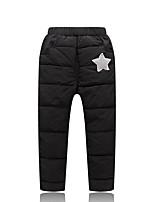 economico -Pantaloni Da ragazza Poliestere Tinta unita Inverno Autunno Semplice Attivo Blu Nero Rosso