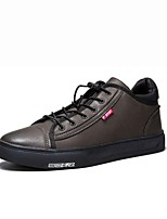 cheap -Men's Shoes PU Spring Fall Comfort Sneakers For Casual Brown Black