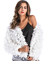 Long Sleeves Acrylic Wedding Party / Evening Women's Wrap With Tassels Coats / Jackets