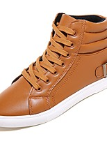 cheap -Men's Shoes PU Spring Fall Fashion Boots Sneakers for Casual Black Dark Blue Yellow