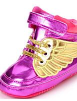 Недорогие -Дети обувь Полиуретан Зима Осень Удобная обувь Обувь для малышей На плокой подошве Назначение Повседневные Золотой Белый Черный Пурпурный