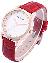 Women's Casual Watch Fashion Watch Wrist watch Chinese Quartz Casual Watch Leather Band Casual Elegant Black Red Brown