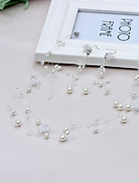 Women's Imitation Pearl Floral Alloy Earrings Hair Jewelry For Wedding Party Wedding Gifts