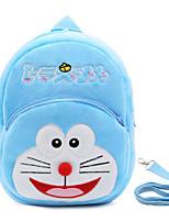 Kids Bags Fall Winter Fur Backpack Zipper for Outdoor Blue