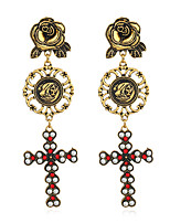cheap -Women's Drop Earrings Hoop Earrings Vintage Ethnic Alloy Cross Geometric Shape Jewelry For Club Street