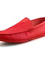 Homme Chaussures Polyuréthane Toute Saison Confort Mocassins et Chaussons+D6148 Pour Décontracté Blanc Noir Rouge