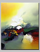 Ручная роспись Абстракция Вертикальная,Modern 1 панель Холст Hang-роспись маслом For Украшение дома