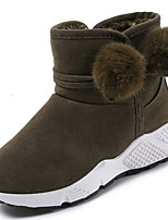 cheap -Women's Shoes Rubber Winter Snow Boots Boots Round Toe For Outdoor Army Green Gray Black