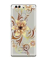 Недорогие -Кейс для Назначение Huawei P9 / Huawei P9 Lite / Huawei P8 P10 Plus / P10 Lite / P10 Прозрачный / С узором Кейс на заднюю панель Цветы Мягкий ТПУ для P10 Plus / P10 Lite / P10