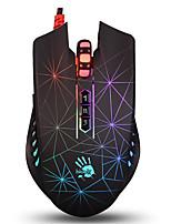 a4tech p81 jeu souris filaire usb rgb lumière 8 touches 5000dpi avec 180cm câble