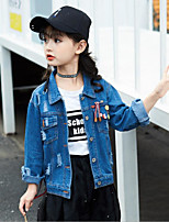 Girls' Solid Suit & Blazer Long Sleeves Blue