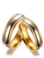 Homme Femme Couple de Bagues Mode Elégant Titane Forme de Cercle Bijoux Pour Mariage Soirée