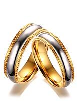 Men's Women's Couple Rings Fashion Elegant Titanium Circle Jewelry For Wedding Evening Party