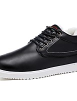 cheap -Men's Shoes PU Fall Winter Comfort Sneakers For Casual Khaki Blue Black