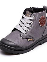 Boys' Shoes PU Fall Winter Comfort Combat Boots Boots For Casual Red Gray Black