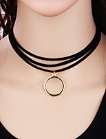 cheap -Women's Circle Fashion Choker Necklace Alloy Choker Necklace , Gift Daily