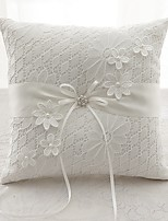 cheap -Satin Lace Silk Ring Pillows Wedding Ceremony