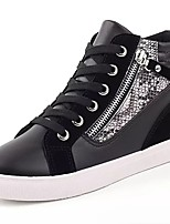 cheap -Men's Shoes PU Spring Fall Comfort Sneakers For Casual Black/White Black